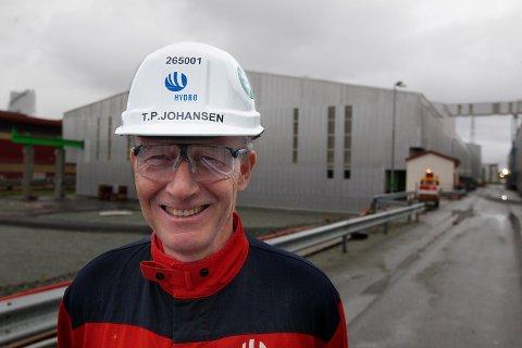 Fabrikksjef Tom Petter Johansen Arkivfoto:  Harald Nordbakken