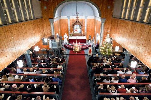 JUL: Julegudstjeneste. Foto: Vegard Grøtt / NTB scanpix