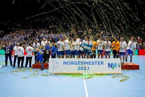 Bodø HK - Drammen HK møtes i NM-finalen i håndball i Oslo Spektrum fredag kveld. Foto: Torstein Bøe / NTB scanpix