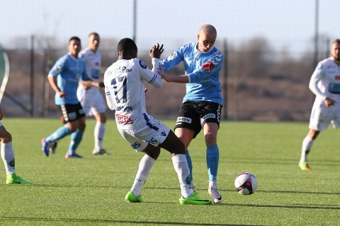 FKH VANT 1-0: Roy Miljeteig og Sandnes tapte mot FKH. Foto: Andrew Halseid Budd , Digitalsport