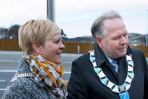 MOTPARTER: Fylkesordfører i Rogaland Solveig Ege Tengesdal (KrF) og Tysværs ordfører Sigmund Lier (Ap) står på hver sin side i regionalplan-saken. Foto: Harald Nordbakken