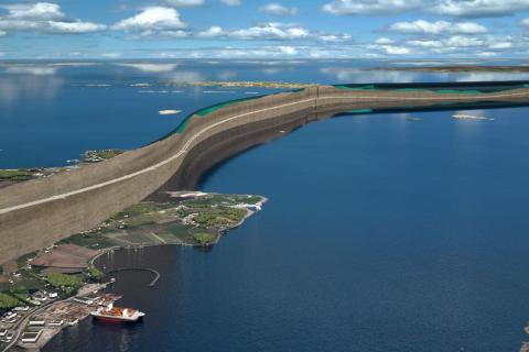 SLIK SKAL DET BLI: Her viser Statens vegvesen et tverrsnitt for hvordan Rogfast-tunnelen skal gå.