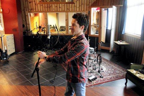 Stig Morten Sørheim i ABC Studio. Foto: Truls Horvei