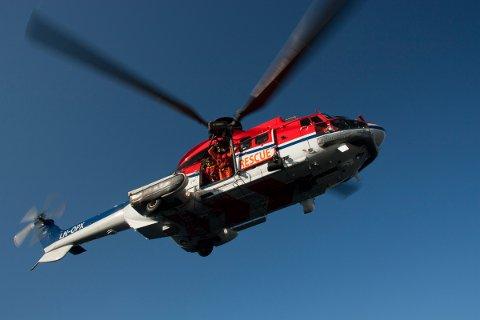 Det er dette helikopteret fra CHC Helikopter Service som skal trene over Sør-Karmøy natt til torsdag.