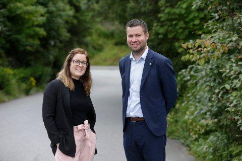 VIL SAMLE ROGALAND: Hanne Marte Vatnaland (Sp) og Geir Pollestad (Sp) fem uker før valget 2017.