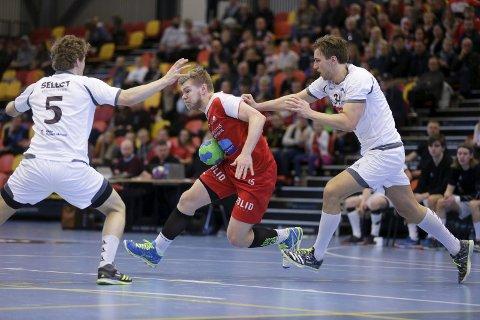 SCORET TRE: Mads Møllenberg scoret tre mål da HHK tapte 29–21 for Herulf Moss i seriestarten i herrenes 1. divisjon.ARKIVFOTO: GRETHE NYGAARD