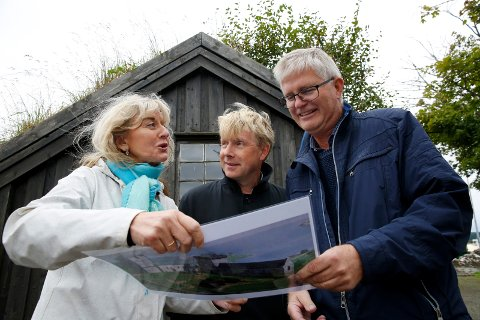 F.v: Marit Synnøve Vea fra Avaldsnesprosjektet, Bjørn Andersen, Helge S. Gaard.