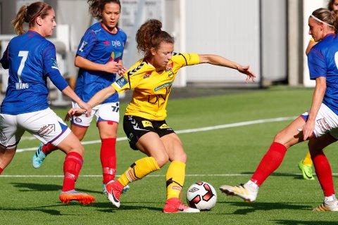 NM semifinalekamp i fotball mellom Vålerenga og LSK Kvinner på Vålerenga stadion i Oslo lørdag.