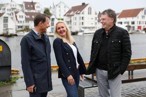 BÅNN GASS UNDER JAZZEN: Det blir utvidede restaurantområder og full rulle under Sildajazz. F.v.:  Bjørn Gerry Viksund, Synnøve Haftorsen Brakstad og Jan G. Tindeland.