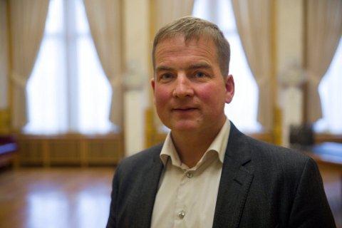 FORNØYD: Som Høyres helsepolitiske talsmann hadde Sveinung Stensland en travel mandag da regjeringens forslag til statsbudsjett ble presentert.
