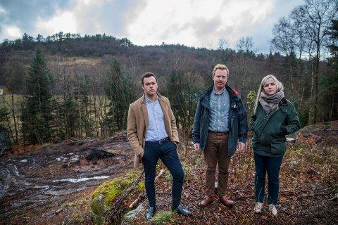 LANDLIG: Håvard Apeland (28), Anders Sandvik (28) og Emilie Klausen (29) har