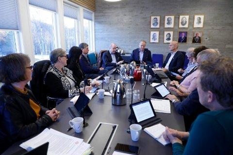 Formannskapsmøte med budsjett 2019.
