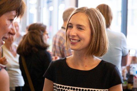 Forsknings- og høyere utdanningsminister Iselin Nybø før hun presenterer det rekordhøye opptaket til høyere utdanning.