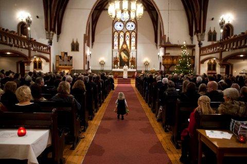 GODT BESØKT: Ifølge tallene til Haugesund kirkelige fellesråd har minst 30 prosent av alle haugalendinger tenkt seg i kirka i jula.