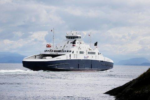 NESTEN-ULYKKE: Det var på MF Boknafjord det holdt på å gå ordentlig galt i juli 2019 da et lite barn prøvde å ta seg gjennom et spygatt.