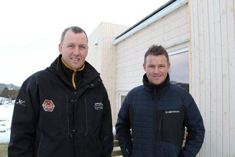 Tysvær 13.2.2018. Kjetil Bjelland og Helge Lilleskog med bygge- og eiendomsfirmaet Bjelland & Lilleskog har vokst seg store på kort tid.