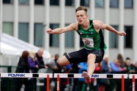 SUPERSTJERNE: Karsten Warholm løp sin første 400 meter hekk under UM i Haugesund (bildet) i 2014. I fjor ble han verdensmester på distansen. I februar kommer han tilbake til Haugesund.