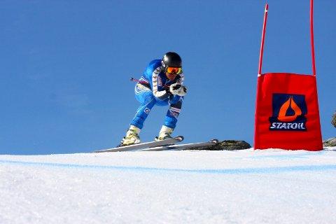 NUMMER 13: Erlend Øveraas ble nummer 13 da NM i alpint startet med utfor onsdag.