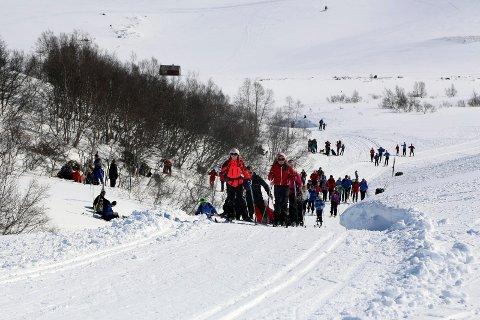 Å dra to timer fra byen til Seljestad eller Røldal for å gå på ski eller være på hytta, er i utgangspunktet ikke en nødvendig fritidsreise, understreker Ullensvang-ordføreren. Bildet er tatt i Seljestad påsken 2014.