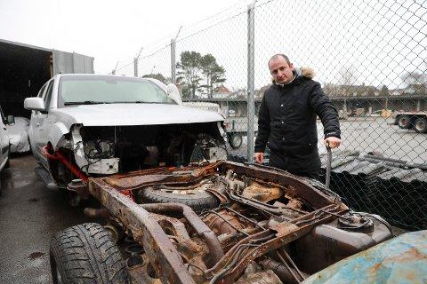 Mete Göksus bil er oppspist av rust.