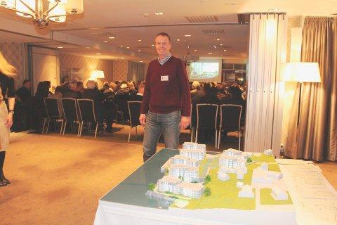 Daglig leder Kjetil Alvhiem i Odd Hansen Prosjekt da han presenterte Smedasundet 1- prosjektet.