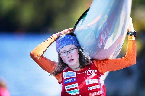 NUMMER SJU: Elise Erland fra Tysvær Kano- og kajakklubb har grunn til å være fornøyd med innsatsen i junior-EM.