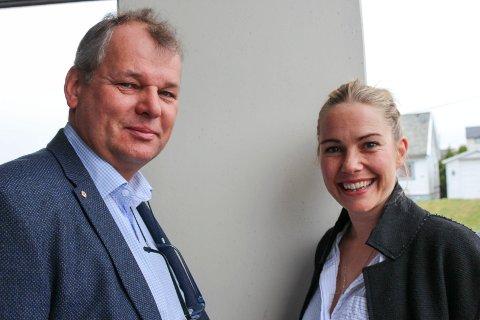 JOBBER SAMMEN: Paul Eggen jr. fra  Haugesund Røde Kors med Venke Knutson som er ny ambassadør for #meigjengen