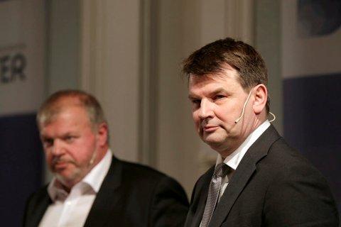 Tor Mikkel Wara (til høyre) er på full fart inn i regjeringen.