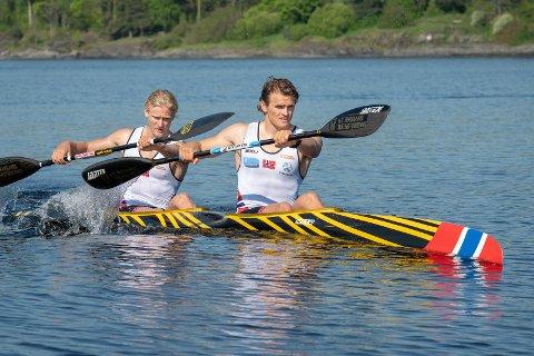 INGEN SUKSESS: Lars Magne Ullvang (foran) og Eivind Vold lyktes ikke i EM fredag.