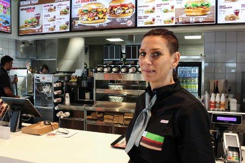 Kristina Thorbjørnsen fra Haugesund skal lede arbeidgjengen på 40 i den nye Burger King-restauranten.