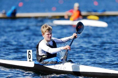 STERKT KORT: Sander Askeland i aksjon under Norgescup-stevnet i Tysværvåg i 2016.