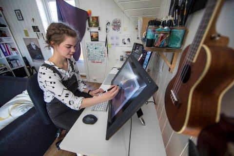 TEGNESERIESKAPER: I helgene framover kan du lese Linn Isabel Eielsens tegneseriestriper i Haugesunds Avis.