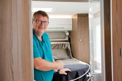 Henrik Johan Gundersen er daglig leder ved Haugaland Caravan AS på Frakkagjerd.