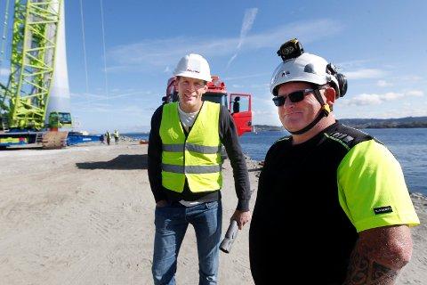 KLAGET: Da klagen på vedtaket om utsatt frist for lyssystemet ble tatt til følge, sikret Solvind og daglig leder, Bjørn Hjertenes (t.v.), to nye år for prosjektet.