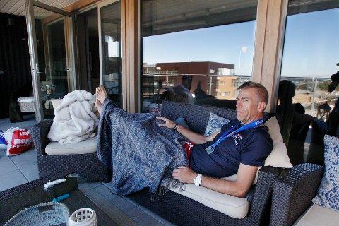 RESTITUSJON: Lars Bjarne Røvang hjemme i Beverskaret dagen derpå.  Foto:  Harald Nordbakken