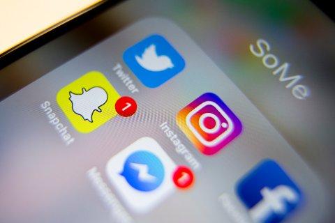Oslo  20161229. Sosiale medier: Messenger, Twitter, Instagram, Facebook og Snapchat. Apper på iPhone Foto: Håkon Mosvold Larsen / NTB scanpix