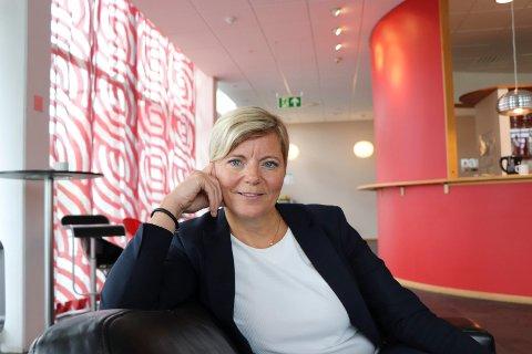 HÅPER PÅ LAGSPILL:  : Gyda Auestad, påtroppende kommunaldirektør for oppvekstetaten i Haugesund kommune, ser håndballen som inpirasjon.
