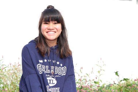 FØR AVREISE: Nina Nguyen før hun dro til La Rochelle. Utsirajenta er stolt over at hun kom inn på skole der.
