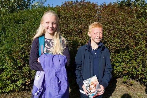 HAR GODE RÅD: Elina Kallevik (12) og Mads Holgersen Grevstad (10) er med i Barnas råd og anbefaler mange å komme på barn er bra i høstferien.