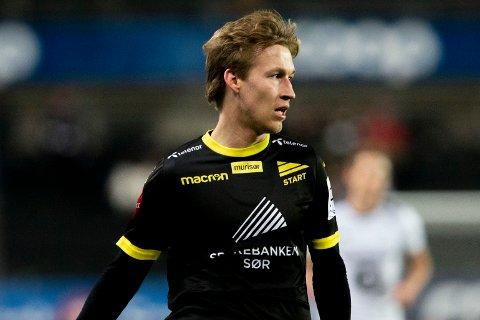 TRONDHEIM  20181101. Starts Niklas Sandberg under semifinalen i NM mellom Rosenborg og Start på Lerkendal Stadion. Foto: