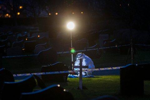 DREPT: Det var i februar i fjor at en kvinne ble angrepet med øks på Vår Frelsers Gravlund i Haugesund.