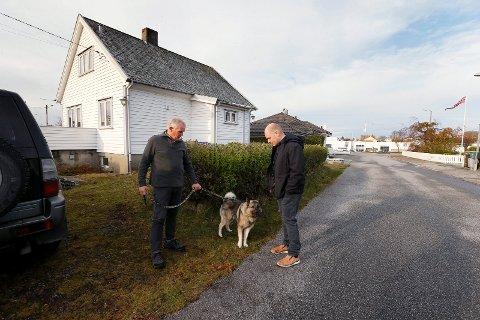 ETTERLATTE: Lars Johan Hereid og Lars Johan Skeisvoll Hereid er enkemann og sønn etter Bjørg Marie Skeisvoll Hereid som ble drept i et økseangrep i 2019.