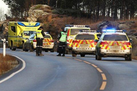 DØDE: En mann i slutten av tenårene mistet livet etter en ulykke på E 39 nord for Våg-krysset i Tysvær mandag formiddag.