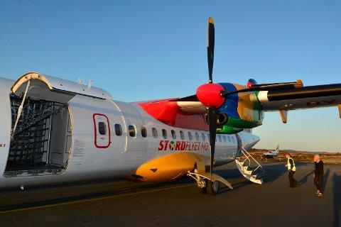 INNSTILLER FLYVNINGER: I en pressemelding onsdag opplyser DAT at de må innstille flyvningene fra Stord til Oslo fra 24. januar.