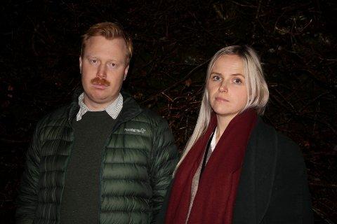 REAGERER: Ekteparet Anders Sandvik (29) og Emilie Klausen (30) forteller om en lang og tung kamp for å få bygge og bo på tomten sin i Tysvær.