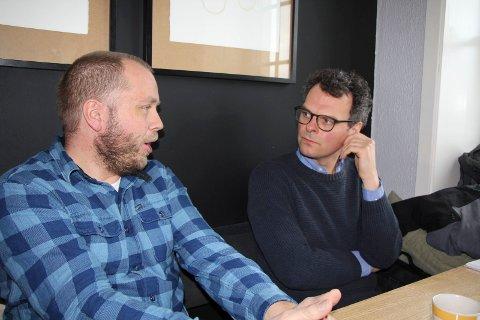 KJAPPE AVGJØRELSER: Alexander Urrang Hauge (t.v.) og Alf Aronsen er halvparten av Øyo-gjengen, og mener de tar raske avgjørelser fordi de er så få.