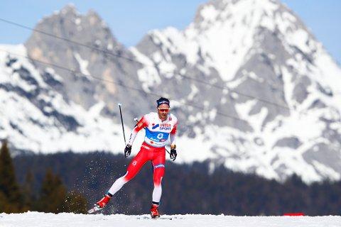 Seefeld, Østerrike 20190303. Hans Christer Holund under langrenn menn, 50 km fellesstart fristil i ski-VM i Seefeld. Foto: Fredrik Hagen / NTB scanpix