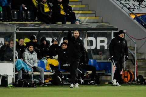 STARTET MED TAp: Rosenborgs trener Eirik Horneland under kampen mellom Bodø/Glimt og Rosenborg på Aspmyra stadion.