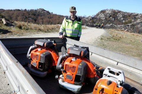 ENORM DUGNAD: - Innsatsen er rørende og dunadsånden enorm, sier  Ove Stumo i Haugaland lyngbrannreseve.