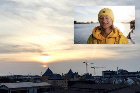MER SOL: Solnedgangen sett fra Haugesund påskeaften. Statsmeteorolog Siri Wiberg tror det blir mer sol og ganske varmt også i siste del av påsken.